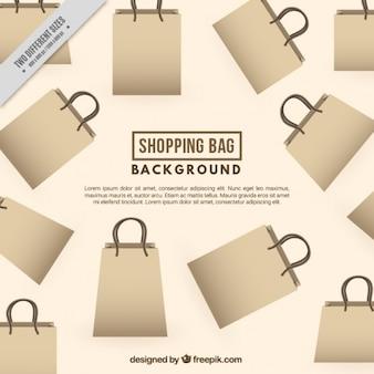 Idealne tło z torby na zakupy z tektury
