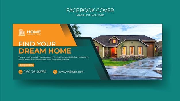 Idealny i nowoczesny szablon banera na sprzedaż domu na facebooku dla firmy zajmującej się nieruchomościami