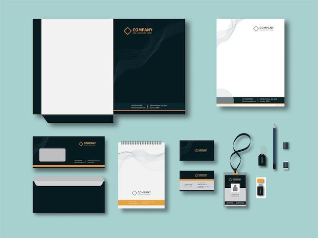 Identyfikacja korporacyjna lub zestawy do brandingu biznesowego