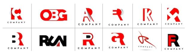 Identyfikacja marki logo wektor firmy r projekt