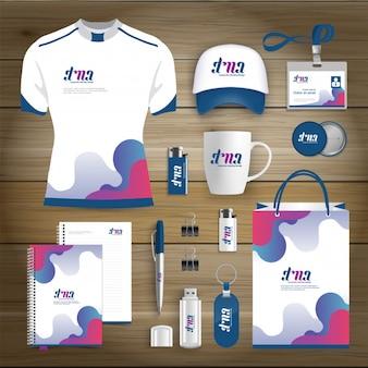 Identyfikacja wizualna business gift items design template mockup