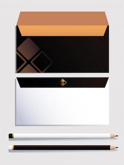 Identyfikacja wizualna dla biznesu na białym tle
