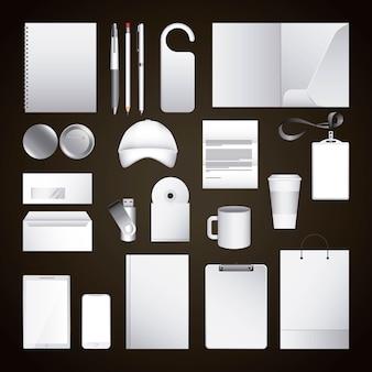 Identyfikacja wizualna szablon puste materiały biurowe