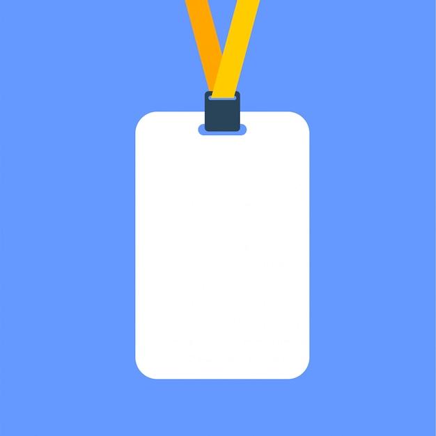 Identyfikator karty biletu płaski szablon ikony