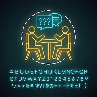 Idź na rozmowę ikona światła neonowego
