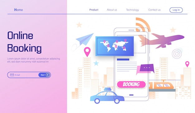 Idź podróż przez rezerwację online na koncepcji smartfona, wakacje