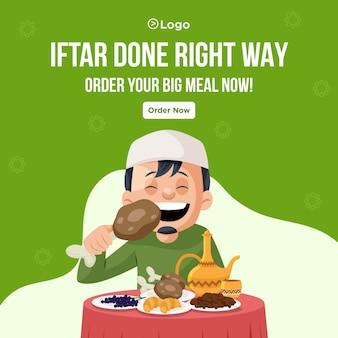 Iftar wykonał projekt banera we właściwy sposób