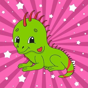 Iguana postać z kreskówki