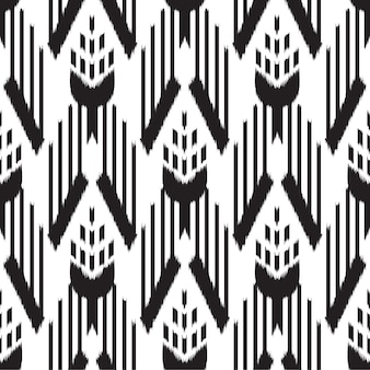 Ikat seamless pattern design