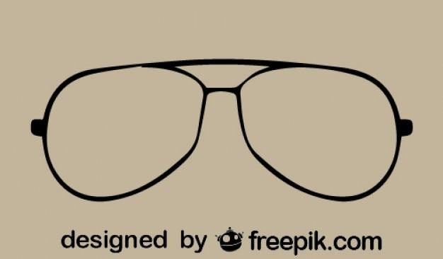 Ikon wektorowych okulary archiwalne