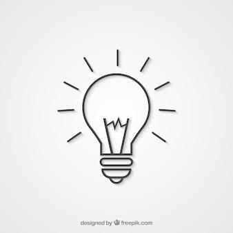 Ikona żarówki światła