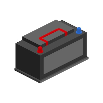 Ikona akumulatora samochodowego. moc energetyczna baterii akumulatorów. ilustracja wektorowa