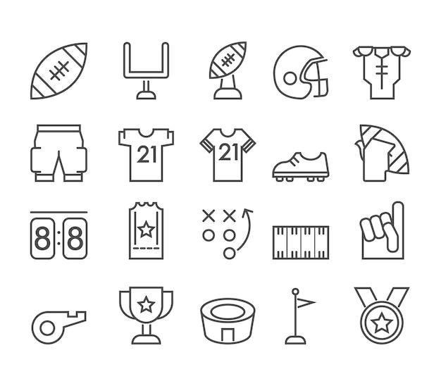 Ikona american football theme line