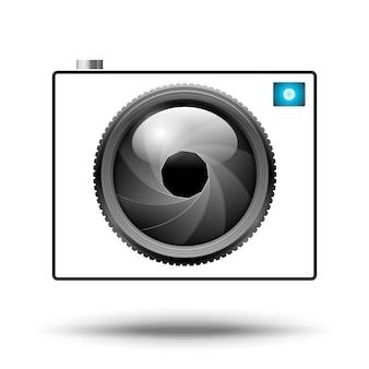 Ikona aparatu na białym tle