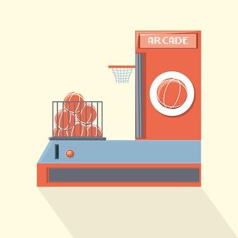 Ikona automat zręcznościowej koszykówki