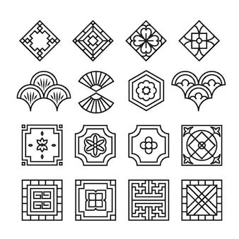 Ikona azjatycki ornament