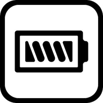 Ikona baterii czarno-biały symbol - wektor, płaska konstrukcja. odc 10