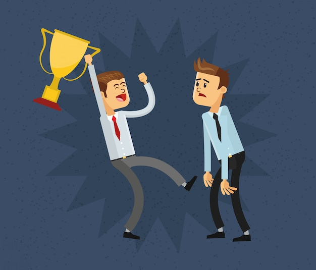 Ikona biznesmen i trofeum
