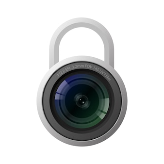 Ikona blokady aparatu zamknięta koncepcja