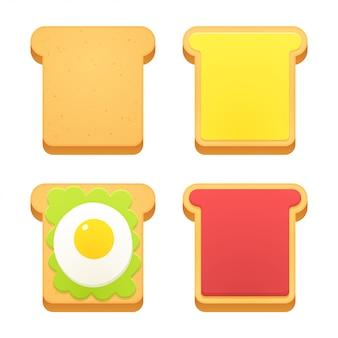 Ikona bochenek chleba w plasterkach
