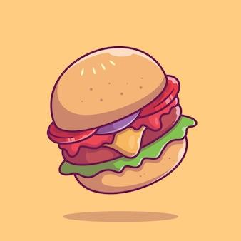 Ikona burger. kolekcja fast food. ikona jedzenie na białym tle