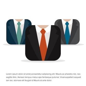 Ikona business man prezentacja
