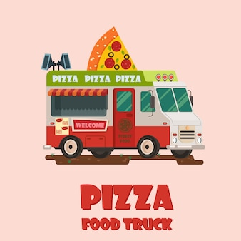 Ikona ciężarówka pizzy
