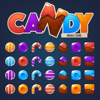 Ikona cukierków do gry mobilnej