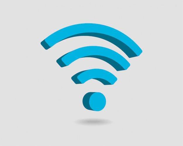 Ikona darmowego wi fi, symbol strefy połączenia wifi, sygnał fal radiowych.