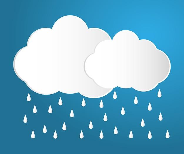 Ikona deszczu i chmury