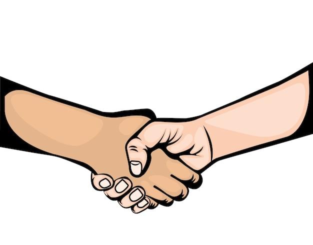 Ikona dłoni wstrząsnąć symbolem