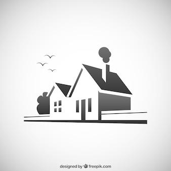 Ikona dom na rzeczywistym stanie
