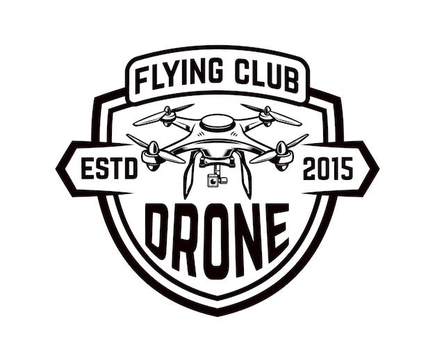 Ikona drona na białym tle. element na logo, etykietę, godło, znak. ilustracja
