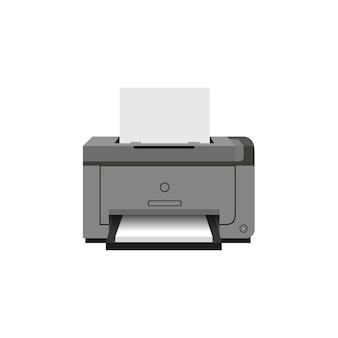 Ikona drukarki laserowej. sprzęt do pracy biurowej.