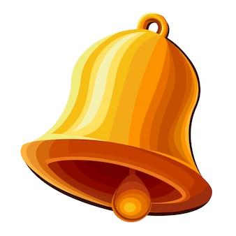 Ikona dzwonka na białym tle