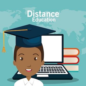 Ikona edukacji e-learningowej ucznia