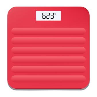 Ikona elektronicznej wagi podłogowej do pomiaru wagi człowieka. ilustracja