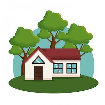 Ikona elewacji domu zewnętrznego