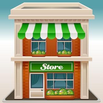 Ikona elewacji sklepu lub kawiarni