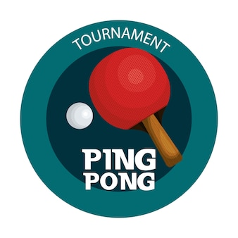 Ikona emblemat sport ping pong