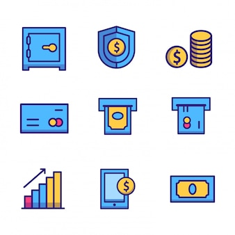 Ikona finansów biznesowych