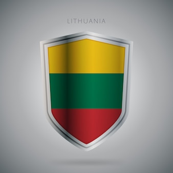 Ikona flagi europy serii litwa
