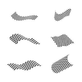 Ikona flagi wyścigu, prosty projekt ilustracji wektorowych