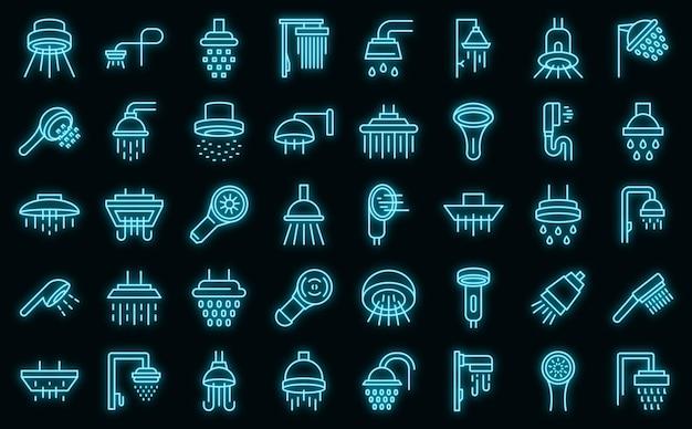 Ikona głowic prysznicowych, styl konturu