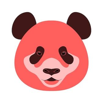 Ikona głowy niedźwiedzia pandy