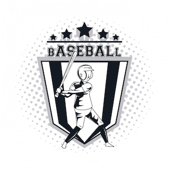 Ikona gracza baseballu