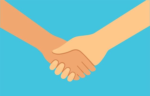Ikona handshakebusiness handshake partnerstwo i symbol umowy