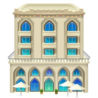 Ikona hotelu. ilustracja.