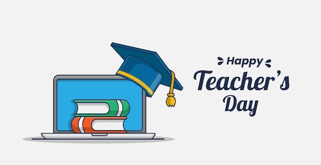 Ikona ilustracja dzień szczęśliwy nauczyciel