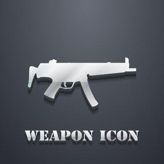 Ikona ilustracja karabin maszynowy. obraz kreatywny i 3d